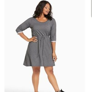 Torrid tie waist sweatshirt dress